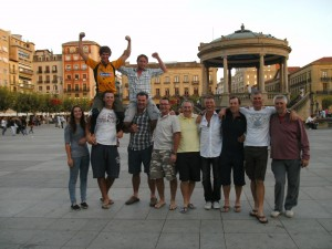 Group in the Square in Pamplona