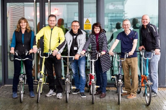 Team ABC with Bromptons! (plus Guy B not in shot)